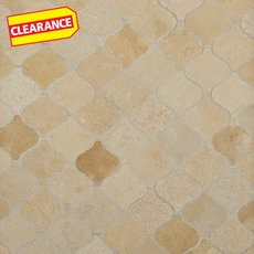 Clearance! Jerusalem Gold Arabesque Limestone Mosaic
