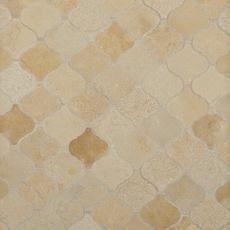 Jerusalem Gold Arabesque Limestone Mosaic