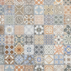 Provenzia Decorative Mix Pattern Porcelain Tile 18 X 18