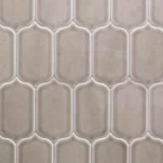 Villa Heirloom Pewter Lotus Porcelain Mosaic 12in X