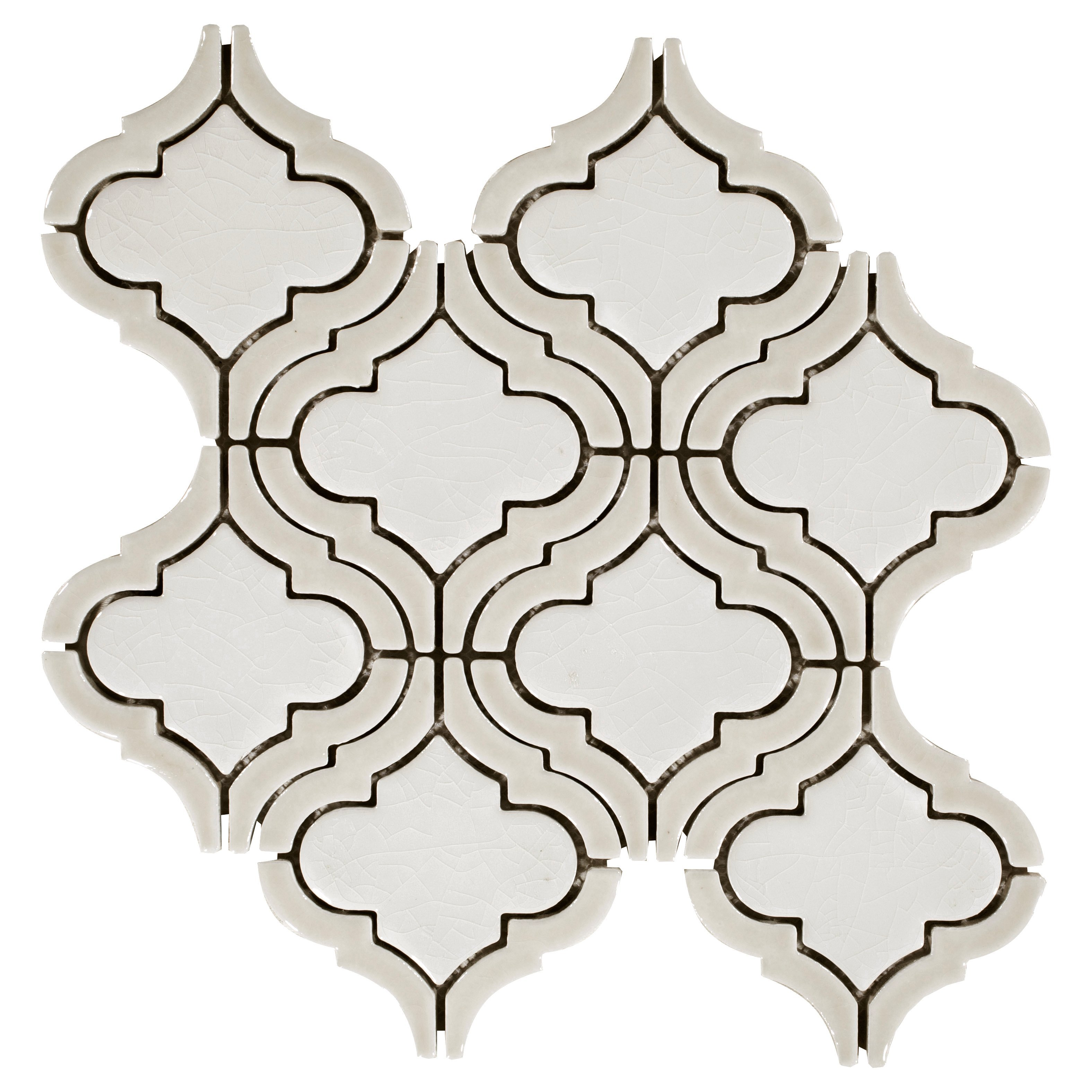 Gray Blend Tear Drop Porcelain Mosaic 12 X 12