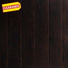 Clearance! Dark Hampton Hickory Hand Scraped Luxury Vinyl Plank
