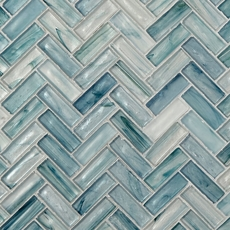 Montage Neptune Herringbone Matte Glass Mosaic