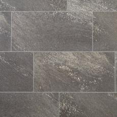 Nucore Dark Gray Tile Plank With Cork Back 6 5mm