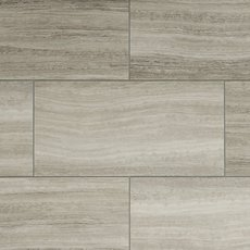 Gray Grouted Rigid Core Luxury Vinyl Tile - Cork Back