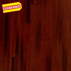 Clearance! Heritage Pecan Hand Scraped Solid Stranded Bamboo