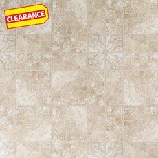 Clearance! Travertine Paver Vinyl Tile