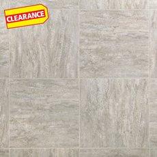 Clearance! Linear Travertine Groutable Vinyl Tile