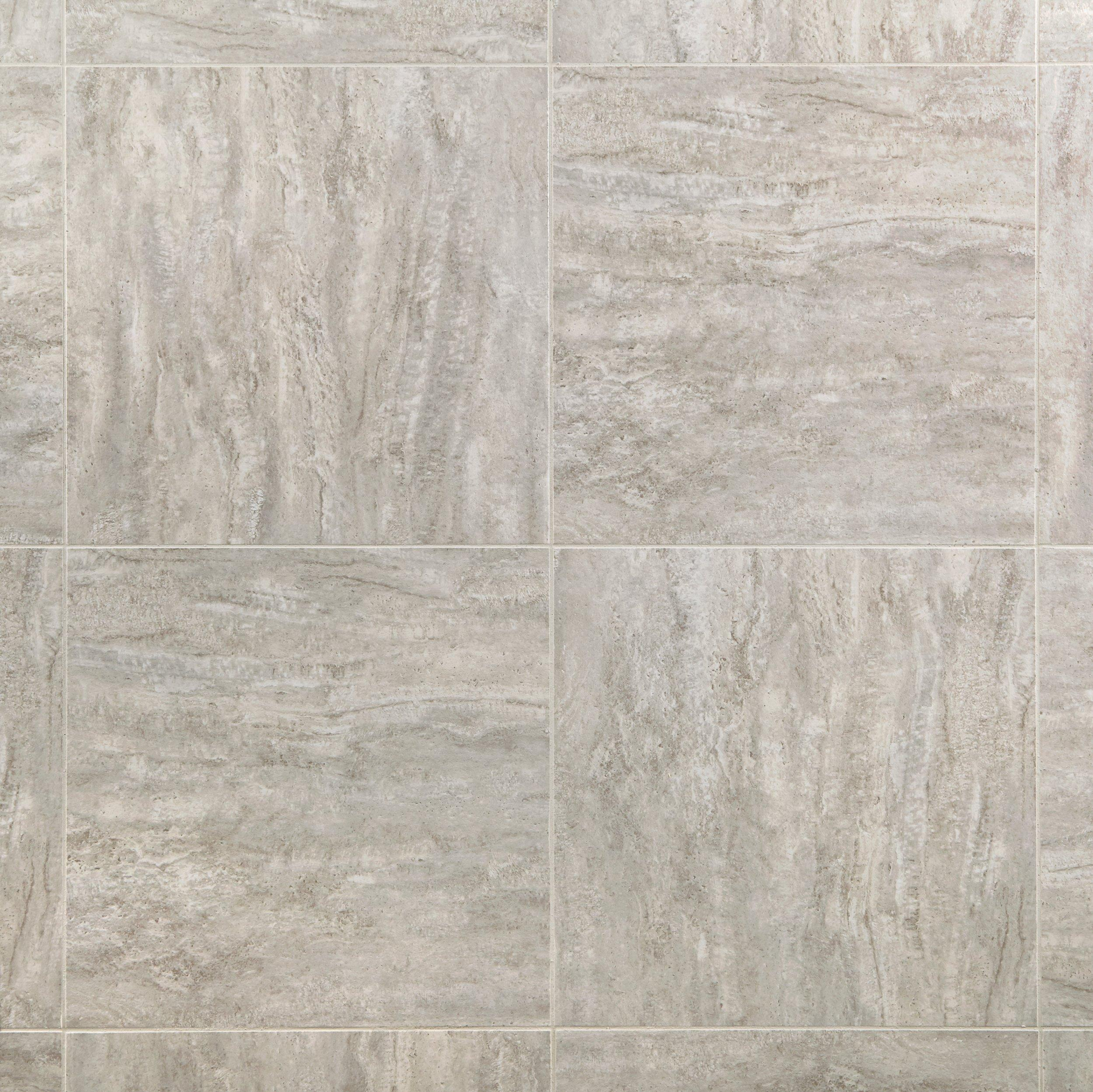 Linear Travertine Groutable Vinyl Tile   18in. X 18in.   100384171 | Floor  And Decor