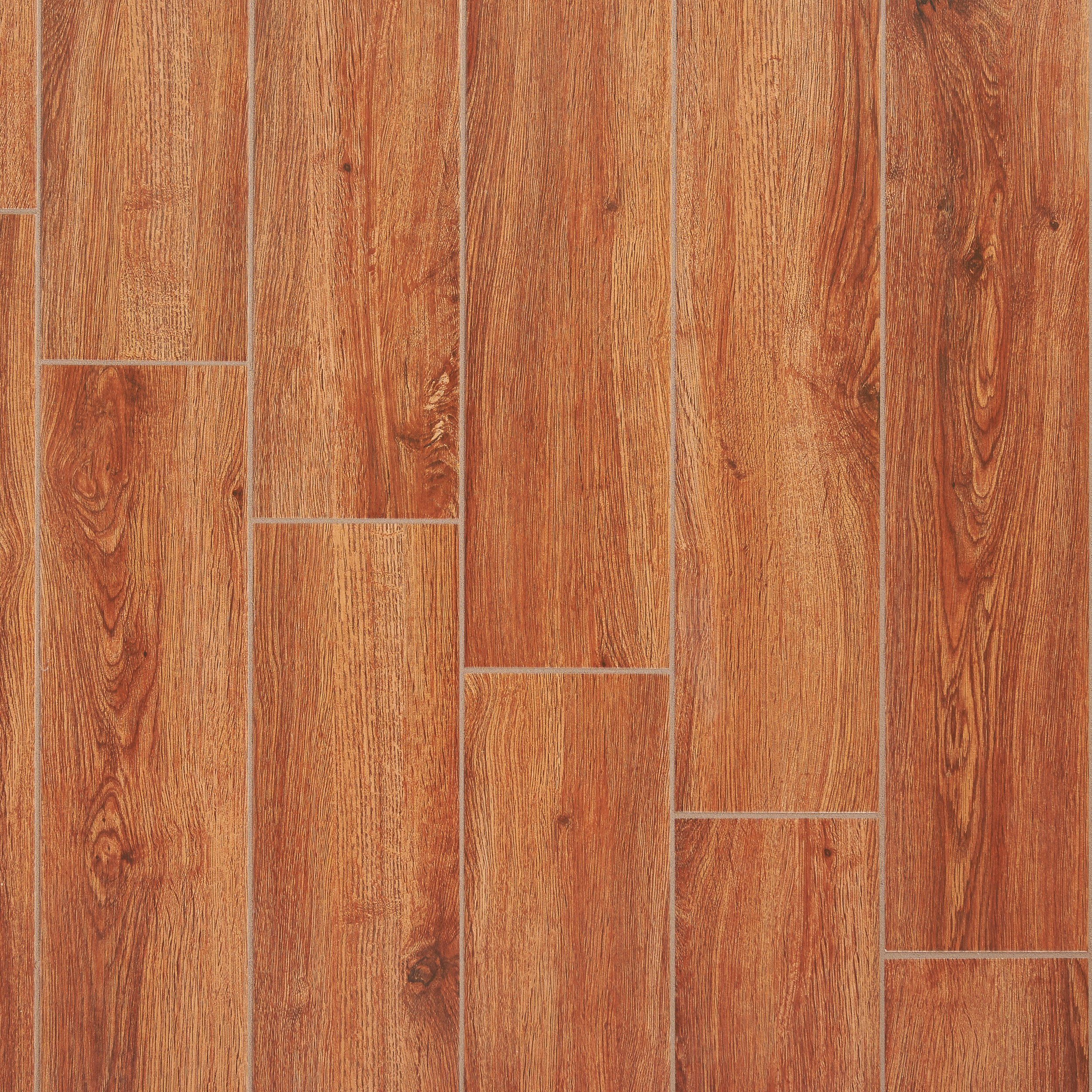 Fulham Red Wood Plank Ceramic Tile 6 X 32 100131457 Floor And