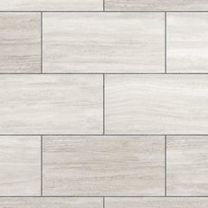 White Grouted Rigid Core Luxury Vinyl Tile - Cork Back