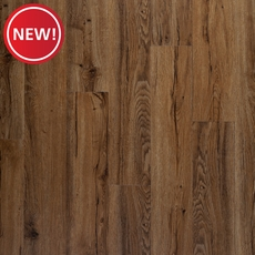 New! DuraLux Performance Auburn Oak Luxury Vinyl Plank with Foam Back
