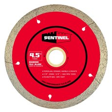 Sentinel 4 1/2in. Tile Diamond Blade