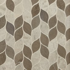 Mixed Leaf Limestone Mosaic