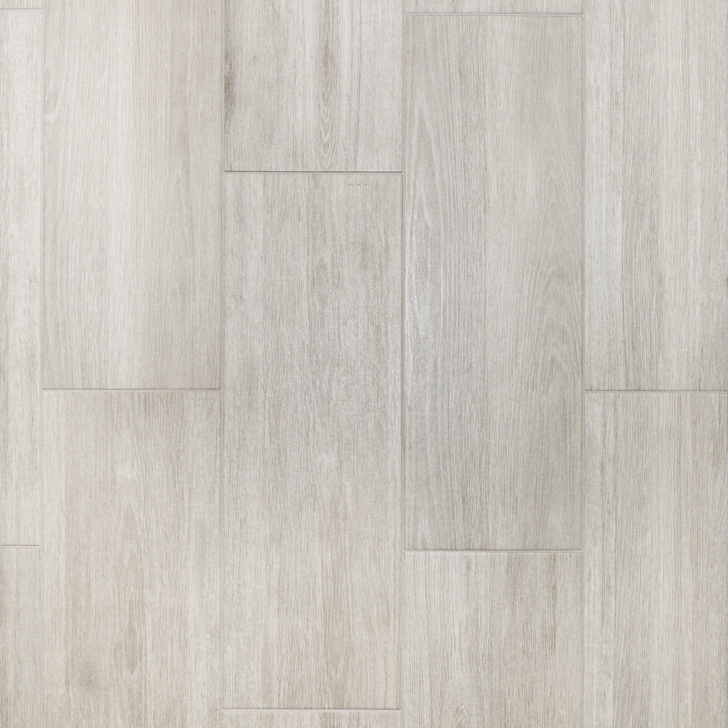 Ronne Gris Wood Plank Ceramic Tile Bathroom Floor Decor