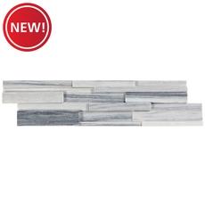 New! Alaska Gray Honed Marble Panel Ledger
