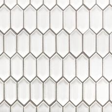 Alabaster Picket Ceramic Mosaic 12in X 12in