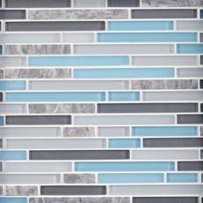 Cerulean Blue Glass Mosaic