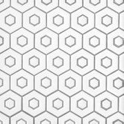 White Double Hexagon Polished Porcelain Mosaic