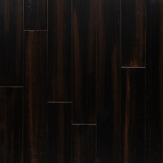 Cocoa Bean Hand Scraped Solid Stranded Bamboo