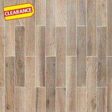 Clearance! Heartwood Beige Wood Plank Porcelain Tile