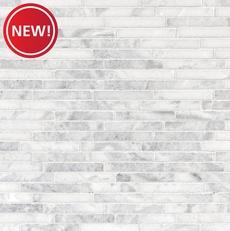 New! Sahara Carrara Polished Linear Marble Mosaic