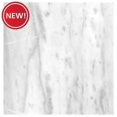 New! Aurora White Polished Marble Tile