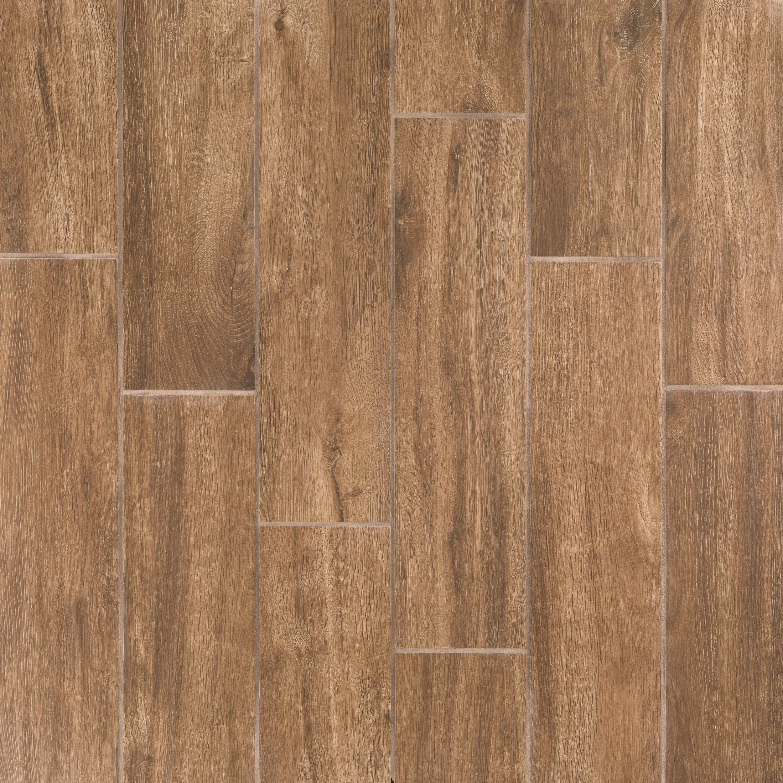 Brunswick Oak Wood Plank Ceramic Tile 7 X 24 100106897