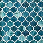 Marina Del Ray Arabesque Glass Mosaic