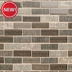 New! Chestnut Tweed Glass Mosaic