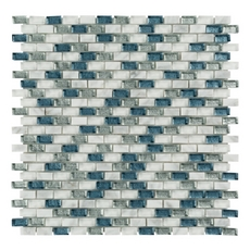 Montage Genieveve Brick Glass Mosaic