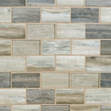 Sand Drift 2 x 4 in. Brick Recycled Glass Mosaic