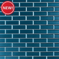 New! Parisian Blue Glass Wall Tile