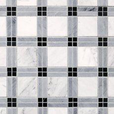 Bianco Carrara Tartan Marble Mosaic