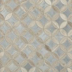 Valentino White Bardiglio Tulip Polished Marble Mosaic