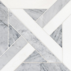 Bianco Carrara Thassos Parquet Marble Mosaic