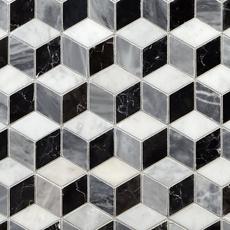 Spectrum Polished Marble Mosaic