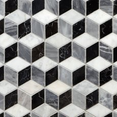 Spectrum Polished Marble Mosaic