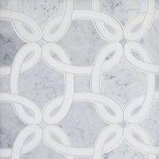 Whimsy Bianco Carrara Waterjet Marble Mosaic
