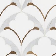 Pegasus Bianco Carrara Waterjet Marble Mosaic