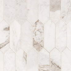 Bianco Orion Picket Marble Mosaic