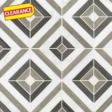 Clearance! Prismatic Carrara Blend Marble Mosaic
