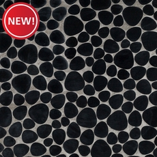New! Jet Black Basalt Pebblestone Mosaic