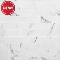 New! Calacatta Bianco Polished Porcelain Tile
