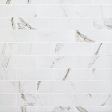 Calacatta Bianco Polished Porcelain Tile