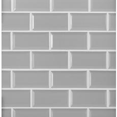 Gray Beveled Brick Porcelain Mosaic