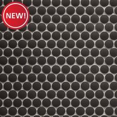 New! Unglazed Charcoal Penny Porcelain Mosaic