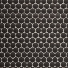Unglazed Charcoal Penny Porcelain Mosaic