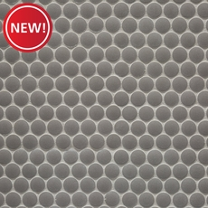 New! Unglazed Light Gray Penny Porcelain Mosaic