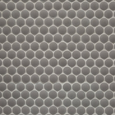 Unglazed Light Gray Penny Porcelain Mosaic